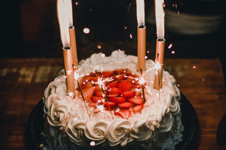 Stor fødselsdagskage